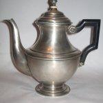 Ceainic argint maner abanos