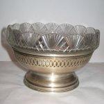 Cos argint cu sticla