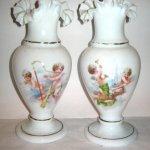 Vaze sticla opalina pereche - ingerasi