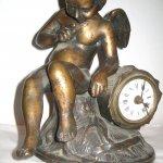 Ceas cu ingeras - bronz